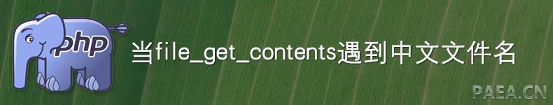 当file_get_contents遇到中文文件名